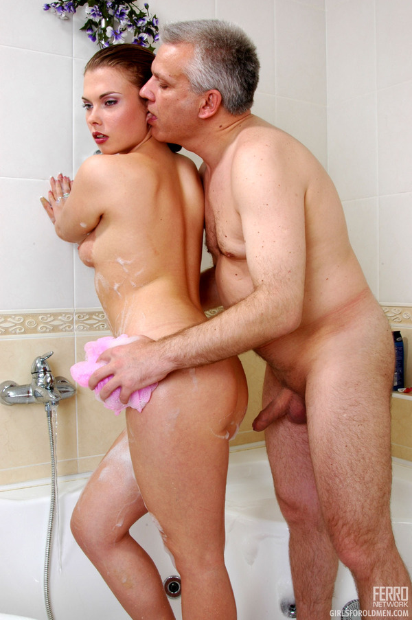 Shower in teen the and fucking old men