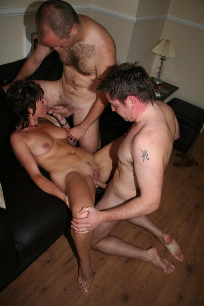 real homemade mature threesome