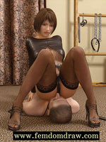 Dominant mistress forces her male - 3d Cartoon sex - Picture 5
