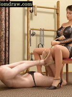 Dominant mistress forces her male - 3d Cartoon sex - Picture 8