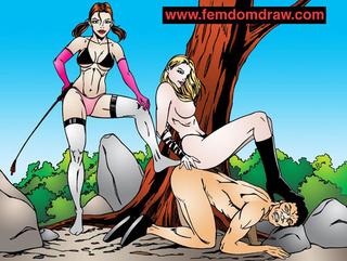 knelt male slaves' tortures