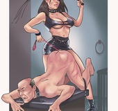 Drawing arts of gorgeous dominant ladies training…