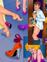Witty comics with a shop assistant - Porn comix - Picture 6