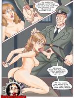 Femme jailbirds' trainings and - Slave cartoons - Picture 2