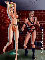 Colored art of female pain training - Bondage toons - Picture 5