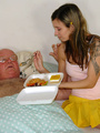 Xxx hardcore - Grandpa fucking the food - Picture 3