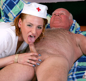 Grumpy old senior enjoys a horny sexual treatment…