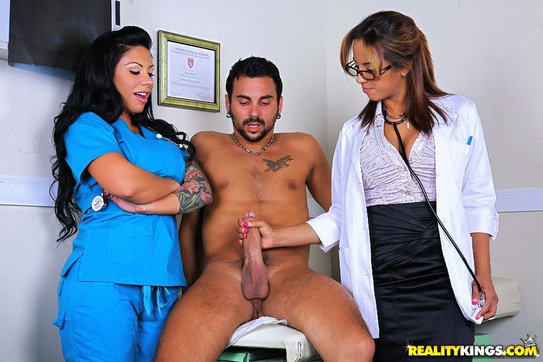 Doctor boob check