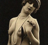 Real vintage topless girls posing in the daring…