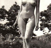 Several outdoor vintage ladies going fully naked…