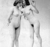 Several naughty vintage lesbians showing their…