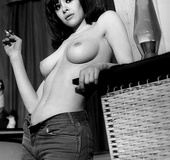 Several busty girls from the sixties showing their…