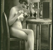 Some real vintage nude babes posing in the…