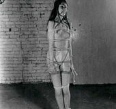 Seventies lady in a kinky mood tied up and exposed…