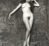 Beautiful sexy vintage women posing nude in the…