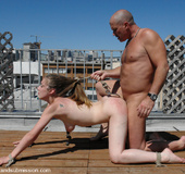 Rough porn. Submissive Jade Marx, is placed in…