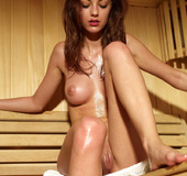 Anna invites you for a hot and horny sauna session