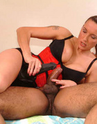 Jane sucks this huge black cock until he explodes&hellip;