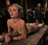 Amateur girl does crazy bondage gangbang where she…