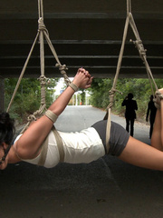 Outdoor nudity - Smoking hot European babe - Unique Bondage - Pic 2