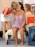Three cute teen lesbians toying their tight…