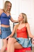Two firm blonde girls love toying their tight…