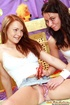 Two sweet brunette teenage girlies toying their…