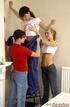 Three cute teenage lesbians decorating their own…