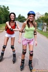 Two skating teenage girls go fully lesbian on…