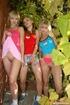 Three cute lesbian teenagers fucking eachothers…