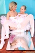 Two blonde teen ballerinas love to use some toys…