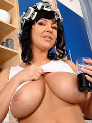 Biggest boobs - Big boobed Kora pours milk - XXX Dessert - Picture 2
