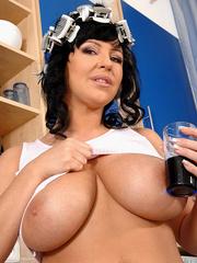Biggest boobs - Big boobed Kora pours milk - XXX Dessert - Picture 2