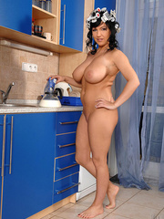 Biggest boobs - Big boobed Kora pours milk - XXX Dessert - Picture 9