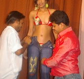 Indian teen in 3 some