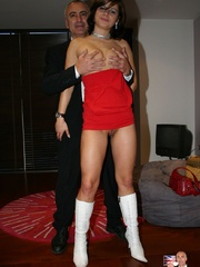 Stocking legs - Cigar smoking British slut - XXX Dessert - Picture 5
