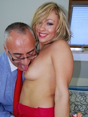 Young & old - British blonde tramp - XXX Dessert - Picture 2