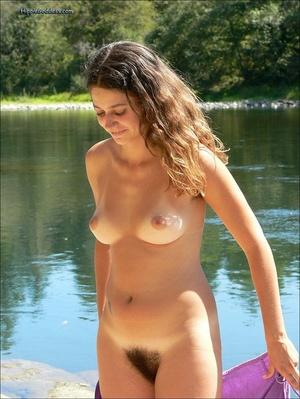 Xxx voyeur. Beautiful young, brunette gi - Picture 4