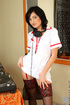 Sexy Tanichka takes off her nurse uniform and…