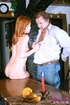 Senior waiter gets abused by a redhead teenage…