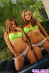 Latinas horny. The Spice Twins take off their bra…