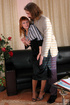 Leggy secretary forced to give head and bend over…