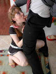 Old young sex - Cute ponytailed girl caught - XXX Dessert - Picture 6