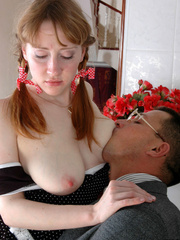 Old young sex - Cute ponytailed girl caught - XXX Dessert - Picture 12