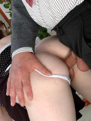 Old young sex - Cute ponytailed girl caught - XXX Dessert - Picture 17