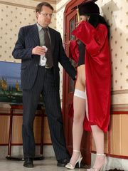 Old men young ladies - Nasty girl makes up - XXX Dessert - Picture 7