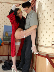 Old men young ladies - Nasty girl makes up - XXX Dessert - Picture 8