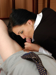Old men young ladies - Nasty girl makes up - XXX Dessert - Picture 15