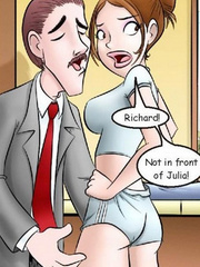 Adult comix - Richard! Not in front of Julia! - Cartoon Porn Pictures - Picture 4