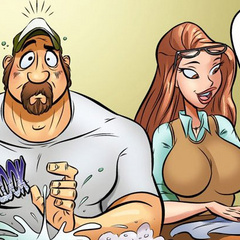 Free comic porn - Housewife seduces her - Cartoon Porn Pictures - Picture 4